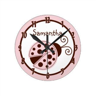 Reloj personalizado Insect de señora Bug Pink Brow