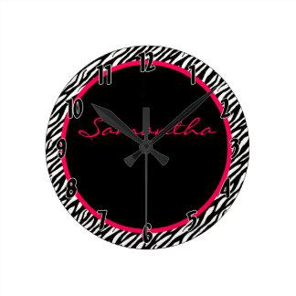 Reloj personalizado modelo de la raya de la cebra