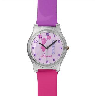 Reloj personalizado multicolor fresco de la