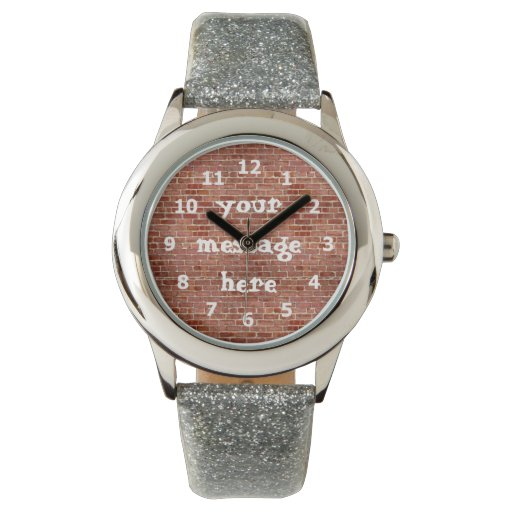 Reloj personalizado pared de ladrillo de la