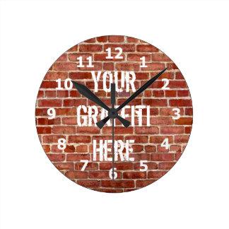 Reloj personalizado pared de ladrillo de la pintad