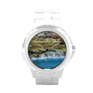 Reloj personalizado rocas lavado mar