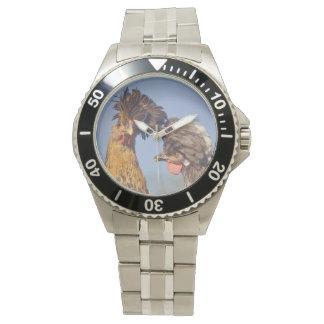 Reloj polaco Nuzzling de los pollos del `