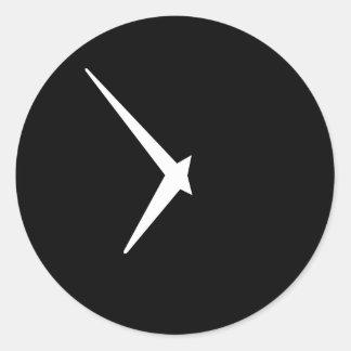 Reloj por las pimientas de Leslie Pegatina Redonda