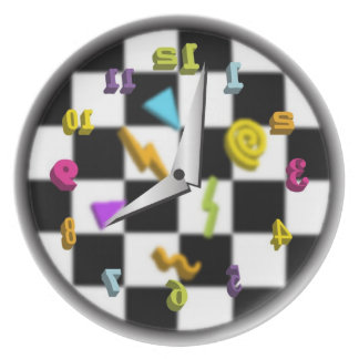 Reloj posterior plato