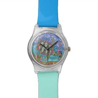 Reloj psicodélico del diseñador del arte del Seaho