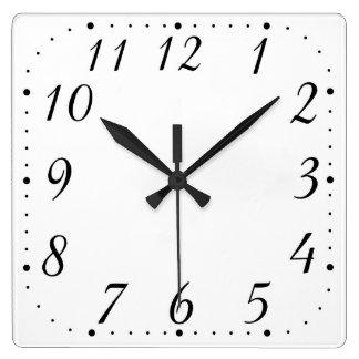 Reloj puro de la casilla blanca
