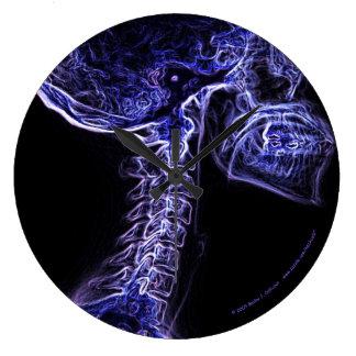 Reloj púrpura/azul de la C-espina dorsal