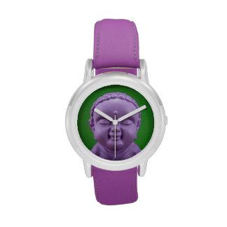 Reloj púrpura de Buda