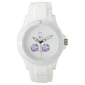 Reloj púrpura de la animadora