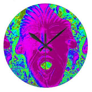 reloj púrpura de la cara
