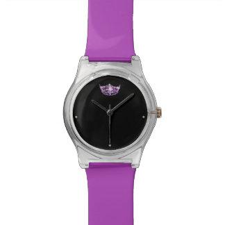 Reloj púrpura de la corona del estilo de Srta.