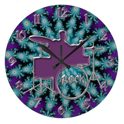 Reloj púrpura de la música del fractal de la