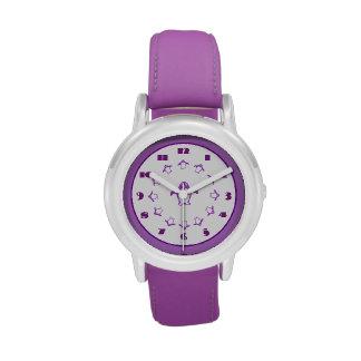 Reloj púrpura de los pingüinos
