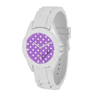 Reloj púrpura del lunar
