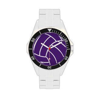 Reloj púrpura del voleibol