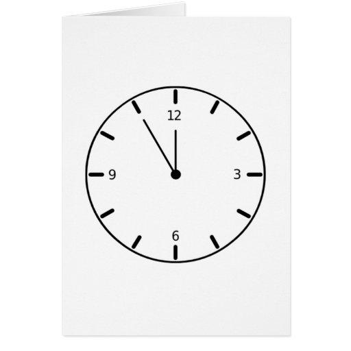 Reloj que exhibe tiempo felicitaciones