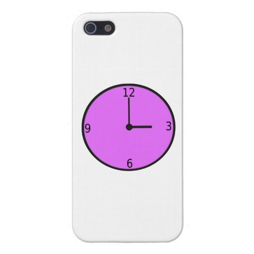 Reloj que exhibe tiempo iPhone 5 carcasas
