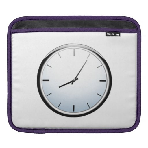 Reloj que exhibe tiempo mangas de iPad