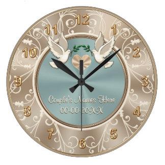Reloj que se casa PERSONALIZADO magnífico con SU