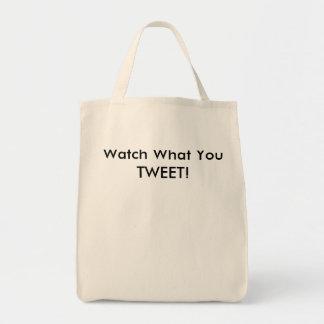 ¡Reloj qué usted pia! Bolsa Tela Para La Compra