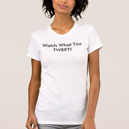 ¡Reloj qué usted pia! Camisetas