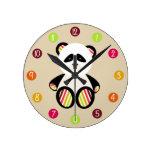 Reloj rayado de la panda