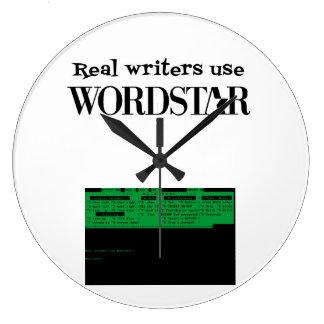 Reloj real del uso WORDSTAR de los escritores