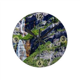 Reloj redondo de la cascada #1a- de Utah (elija el