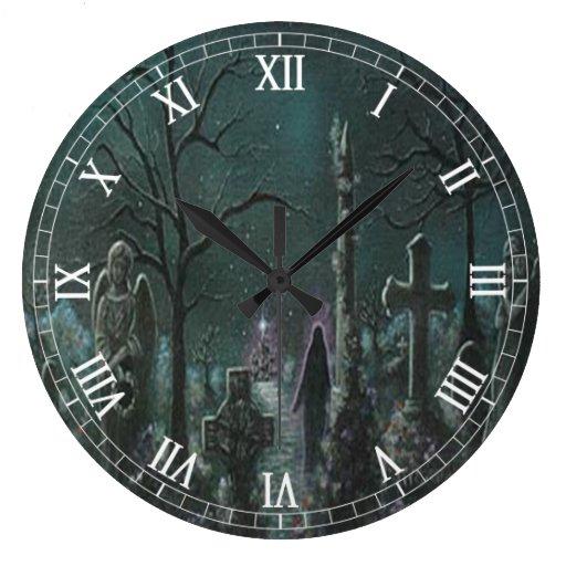 Reloj redondo de los números romanos del cementeri