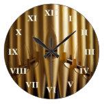 Reloj redondo de los tubos de órgano - números rom