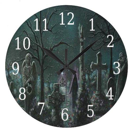 Reloj redondo del cementerio fantasma