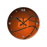 Reloj redondo del número del jugador de básquet