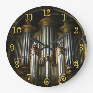 Reloj redondo del órgano parisiense