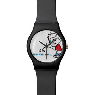 Reloj redondo mate del Co. de la urna de Bobby Mc