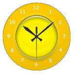 Reloj - reloj amarillo del disco 3D