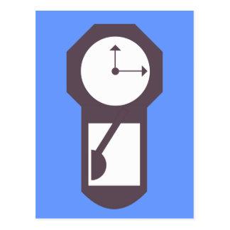 Reloj - relojes de pared - minutos de las horas tarjetas postales