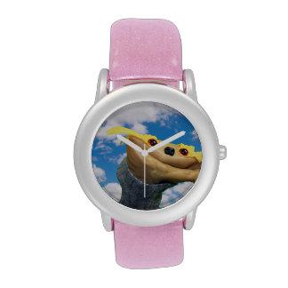Reloj reluciente rosado de Chester