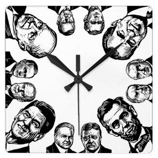 Reloj republicano de los presidentes pared