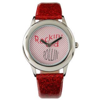 Reloj retro de los años 50 de Rockin y de Rollin