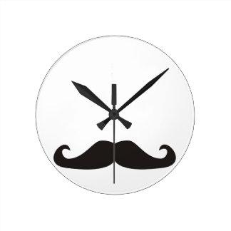 Reloj retro de los bigotes del gentelman