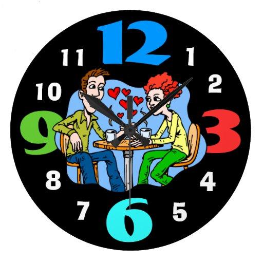 Reloj retro del comensal de los años 50 con los