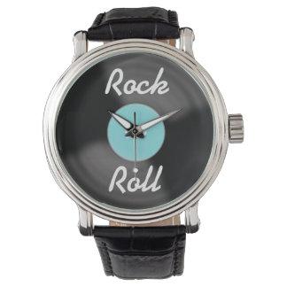 Reloj retro del expediente del rollo de la roca N