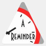 Reloj retro del recordatorio de la cita del calcomanías triangulos personalizadas