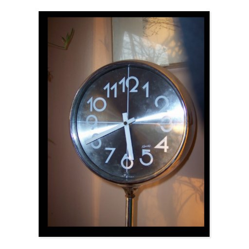 Reloj retro postal