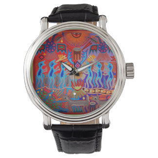 Reloj ritual de la ceremonia del Shaman de Huichol