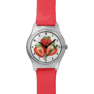 Reloj rojo conocido de encargo de la fresa