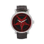 Reloj rojo de Baphomet