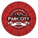Reloj rojo de Park City