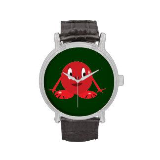 Reloj rojo de Roundie